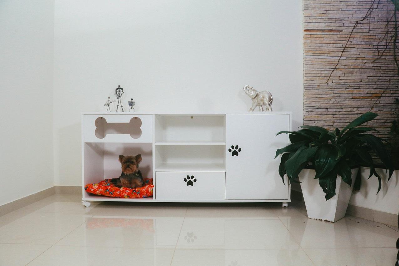 Rack para Tv Pet cama casa cachorro cães-Totó