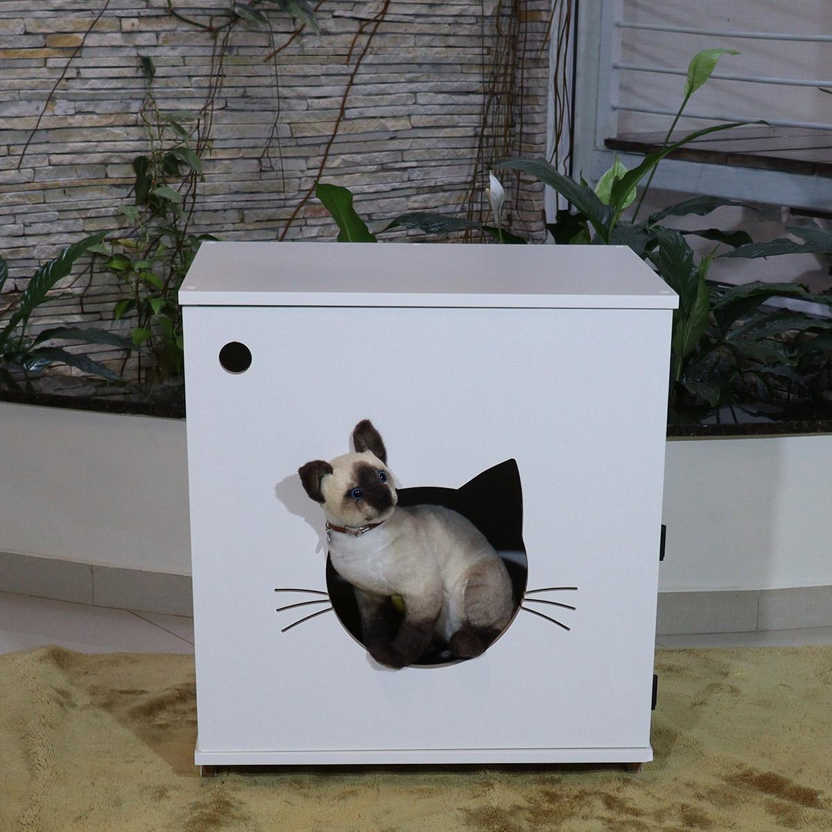 Sanitário banheiro gatos  gatil caixa de areia Félix -Grande