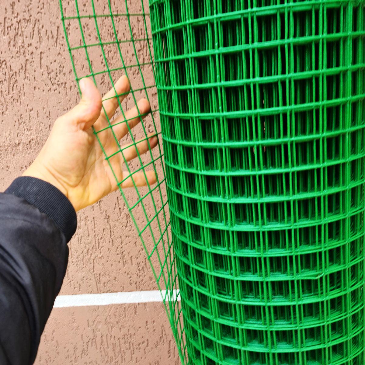 Tela Revestida PVC Alambrado cerca malha 3x3 2.2 mm  1,80 Altura 18M de comprimento