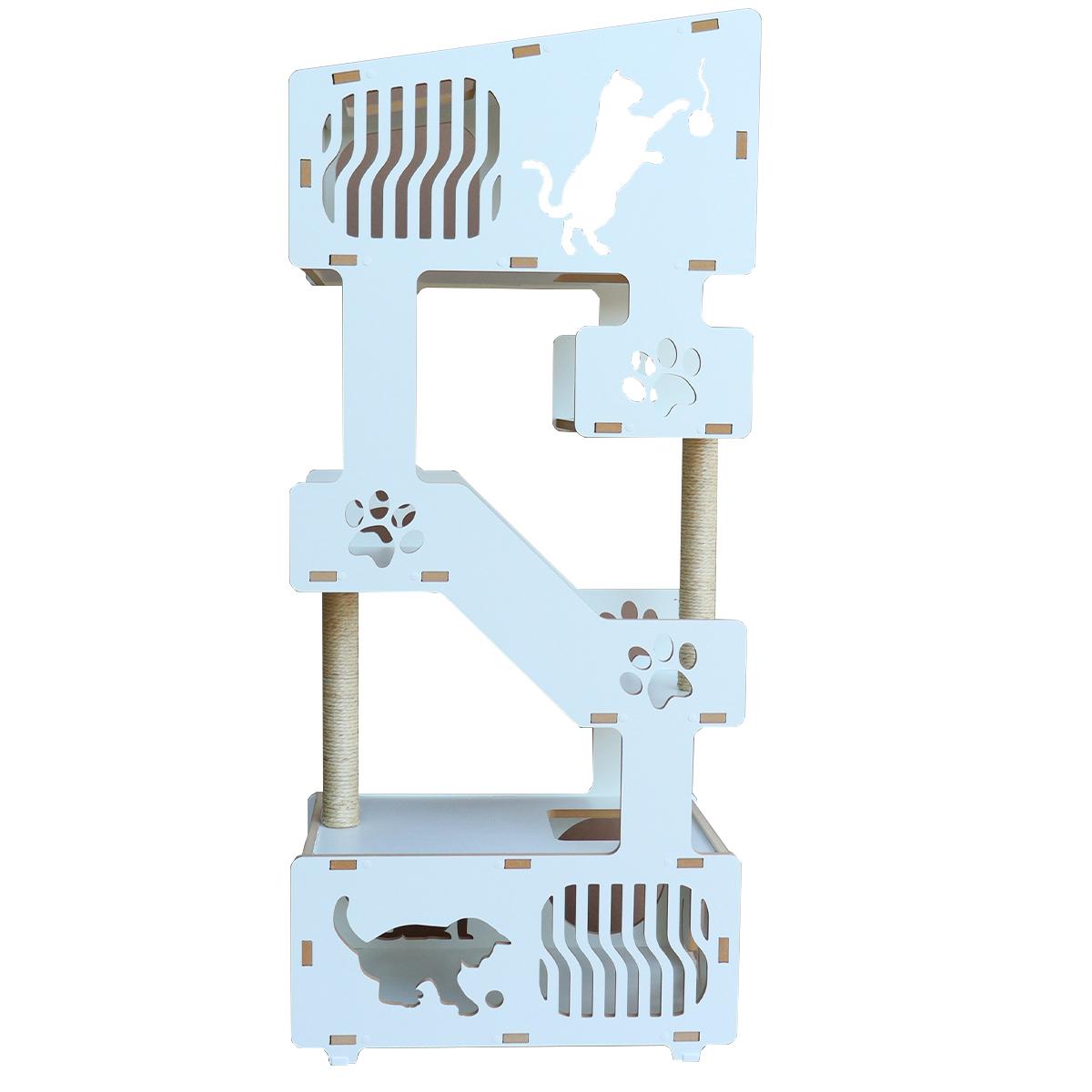 Torre Cama Toca Arranhador nicho brinquedo gato - PETRIS
