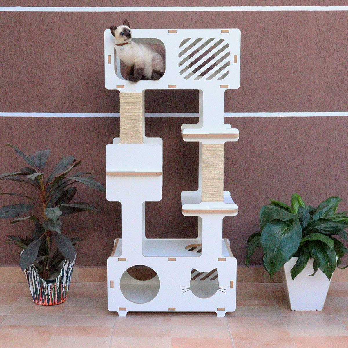Torre Cama Toca Arranhador gato - Simbah Chocmaster