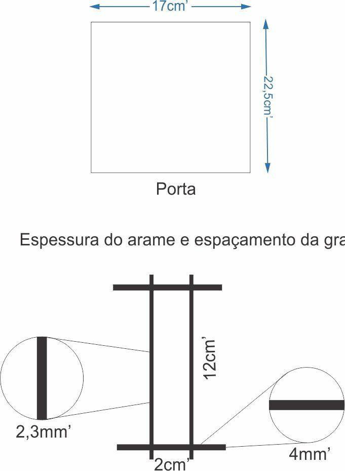 Gaiola Para Aves, Coelhos - Chocmaster  - Chocmaster a melhor chocadeira do Brasil