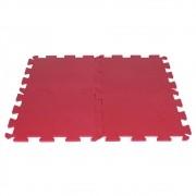 Tatame de EVA Vermelho 50x50 cm - Kit com 4 Unidades