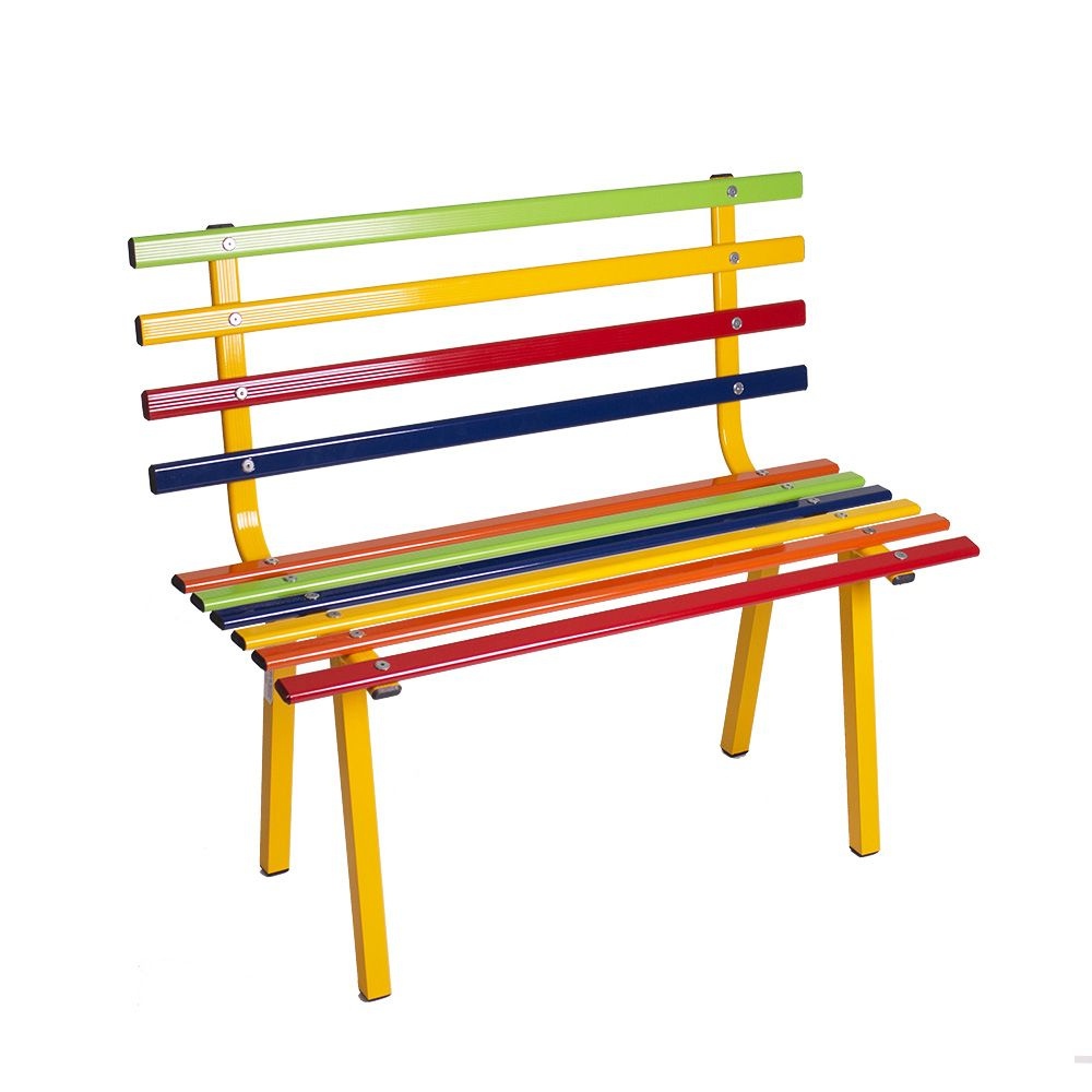 Banco de Alumínio Colorido para Escola, Festa e Jardim