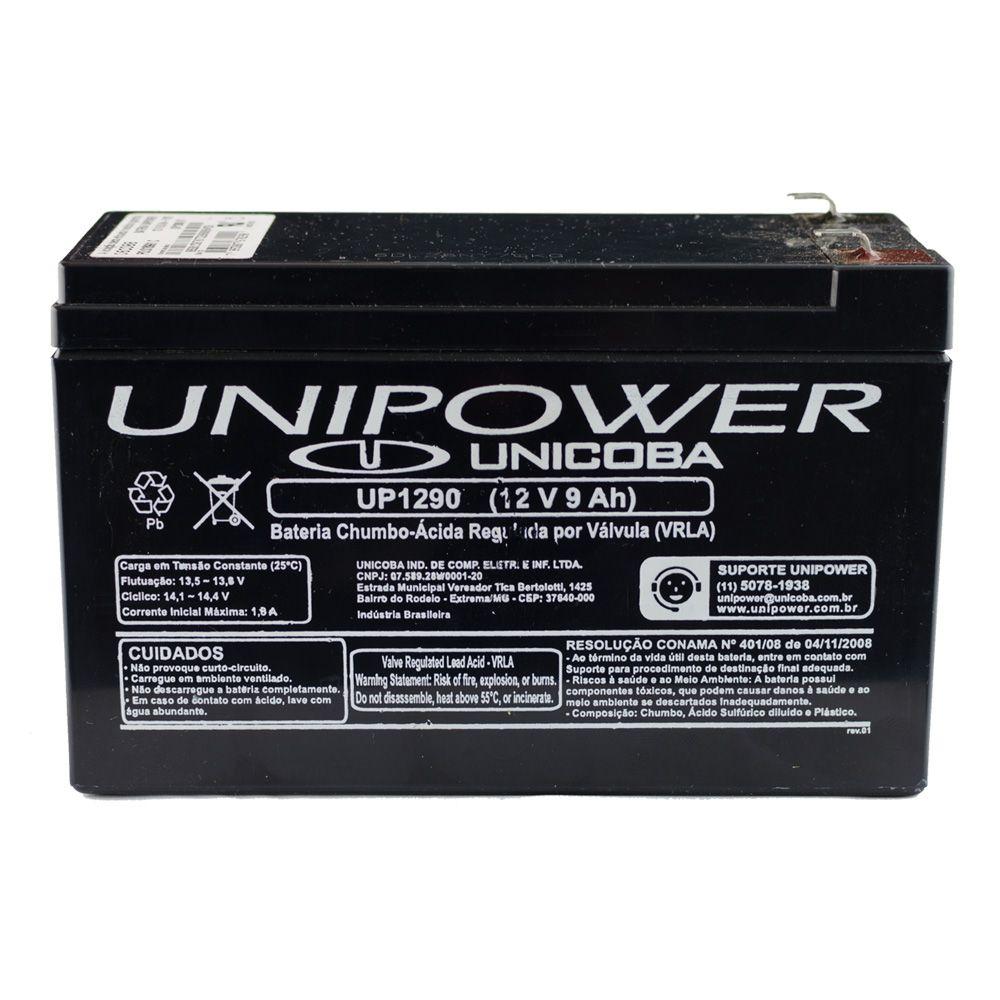 Bateria 12V 9A  para Motores a Gasolina Recarregável