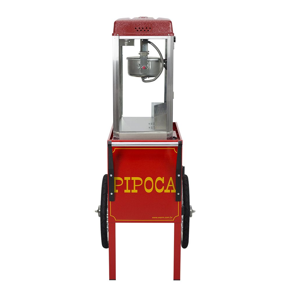 Carrinho de Pipoca em Metal com Pipoqueira Elétrica