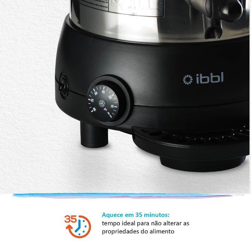 Chocolateira Hot Dispenser IBBL 5 L em Inox
