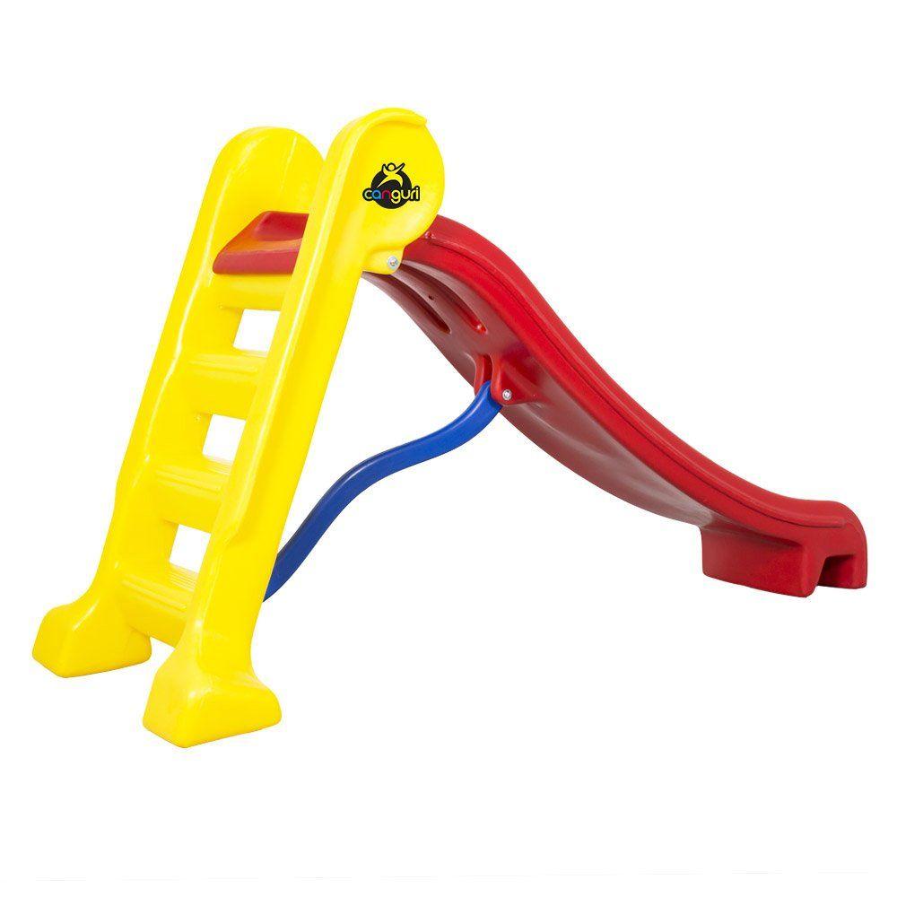 Escorregador Médio Canguri com 3 Degraus Rampa Vermelha