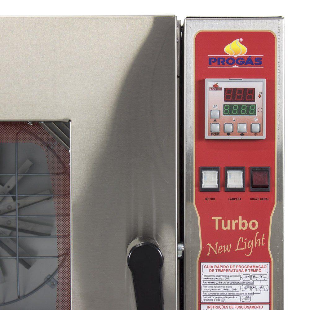 Forno Turbo a Gás para Padaria e Panificadoras New Light 5 Esteiras