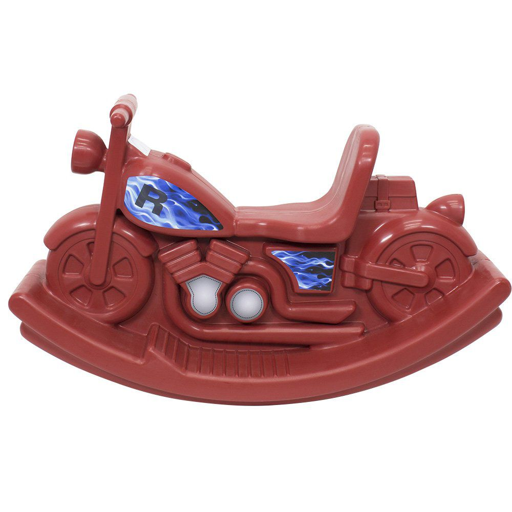 Gangorra Moto Vermelha Adesivada