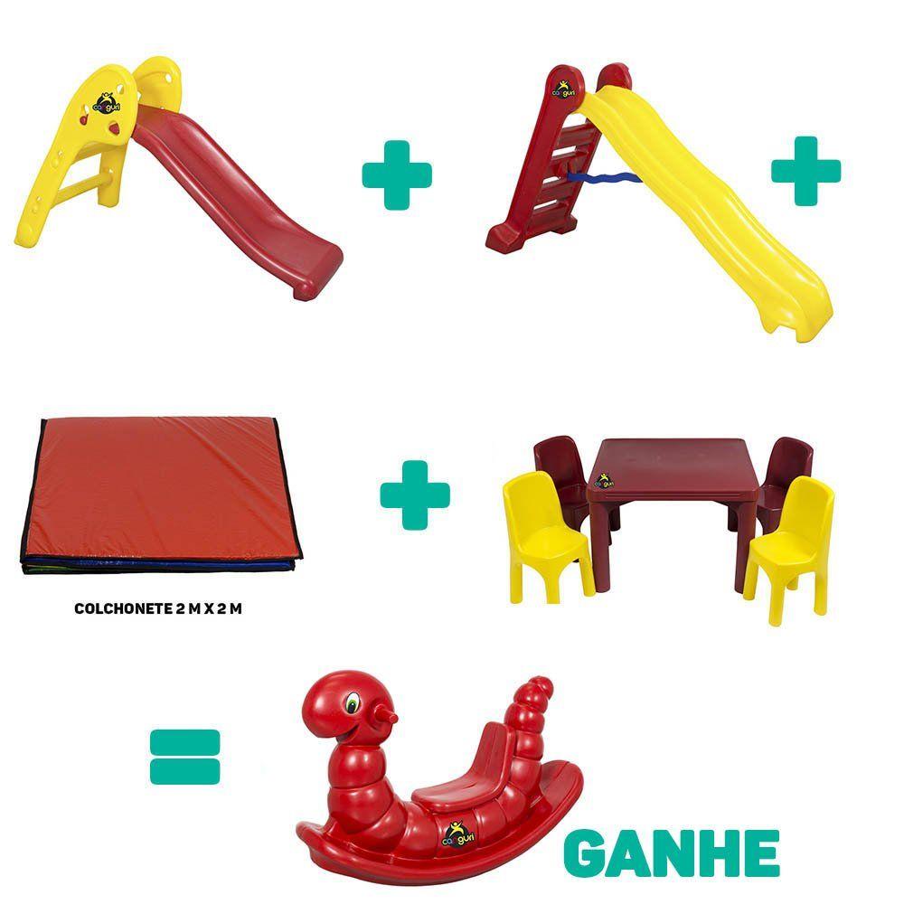 Kit Playground Infantil Gold + Brinde