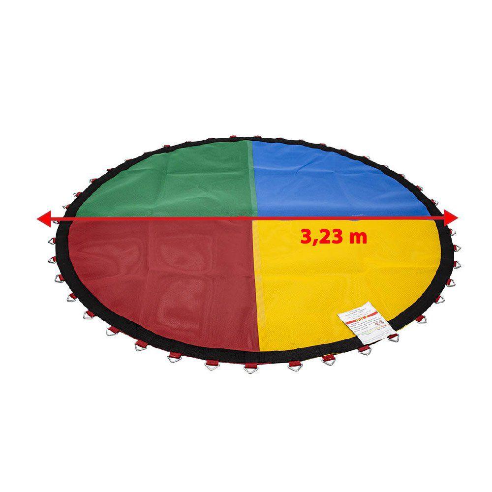 Lona de Salto Para Cama Elástica 3,66 m ou 3,70 m 72 molas Canguri Quadricolor Nacional