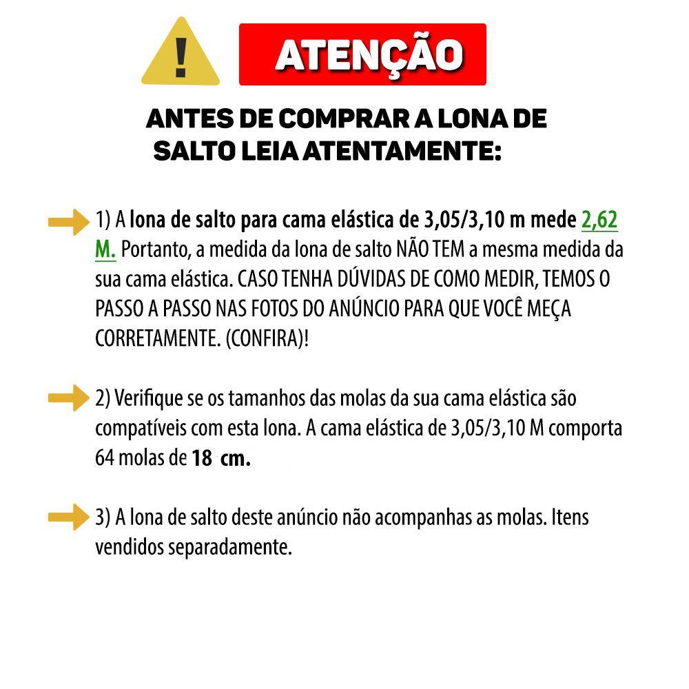 Lona de Salto Para Cama Elástica de 3,05/3,10M com 64 Ganchos Canguri Quadricolor