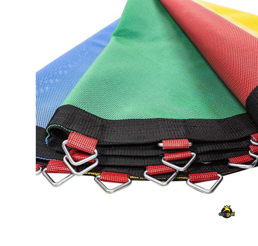 Lona de Salto Para Cama Elástica de 3,66/3,70M com 72 Ganchos Canguri Quadricolor