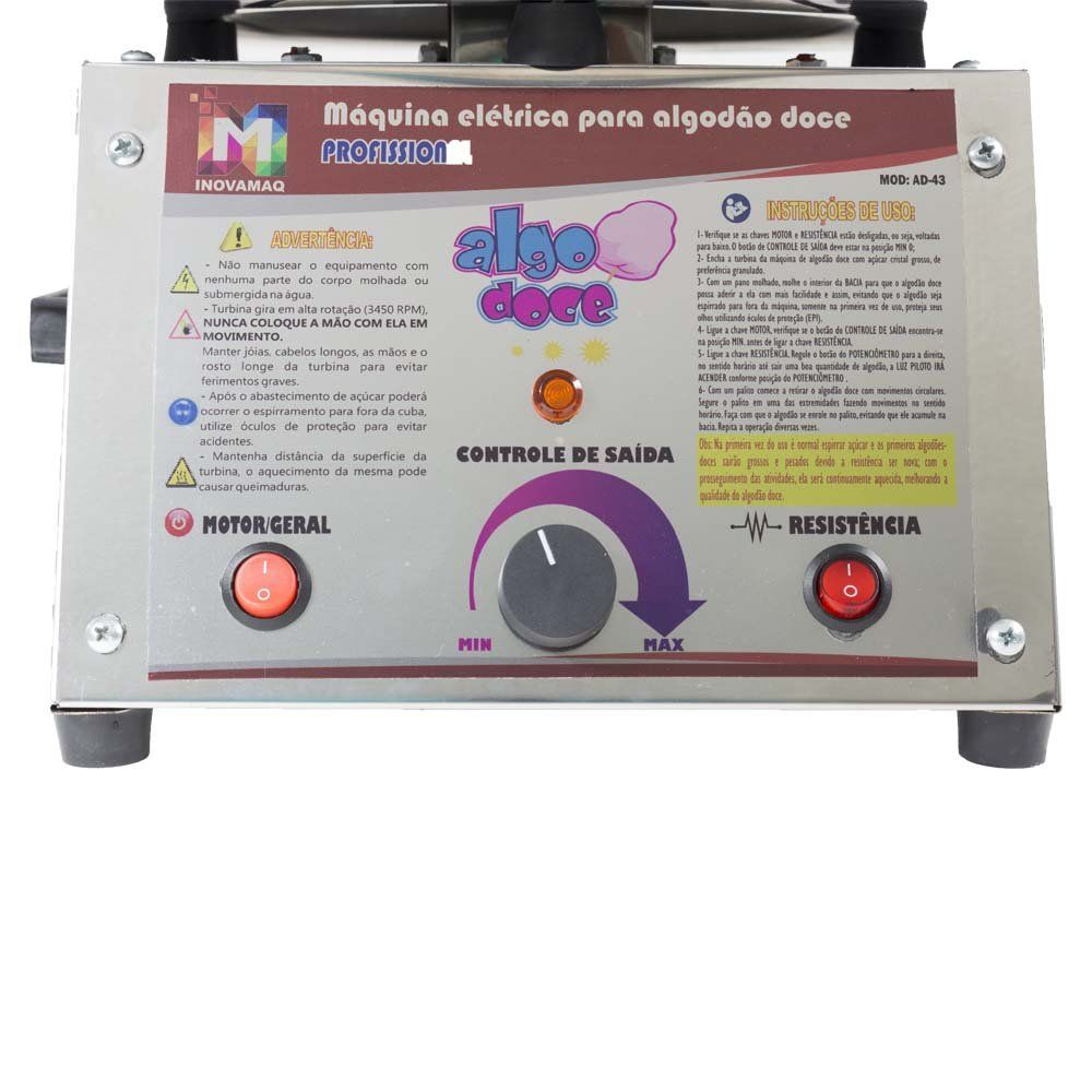 Maquina de Algodão Doce Profissional Bivolt AD-43