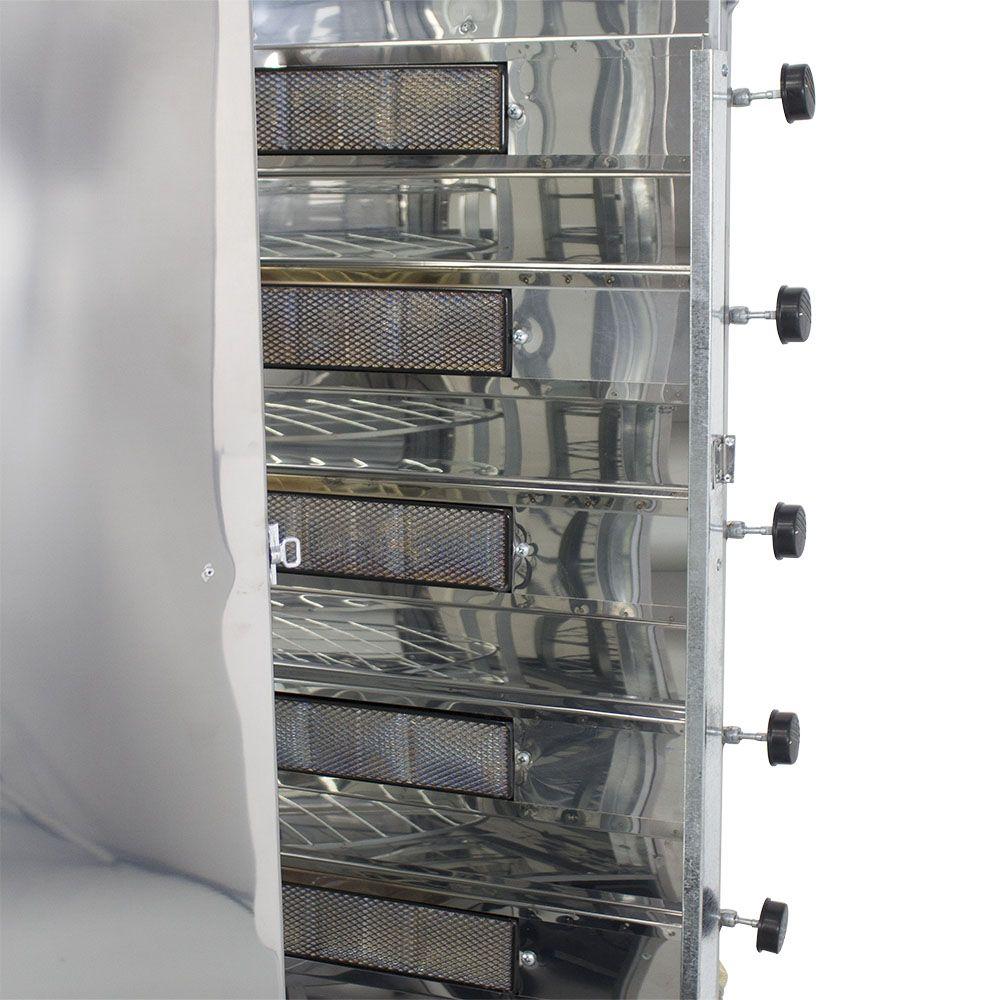 Máquina de Assar Frango e Carne Assador Giratório Brasgrill 56 Frangos