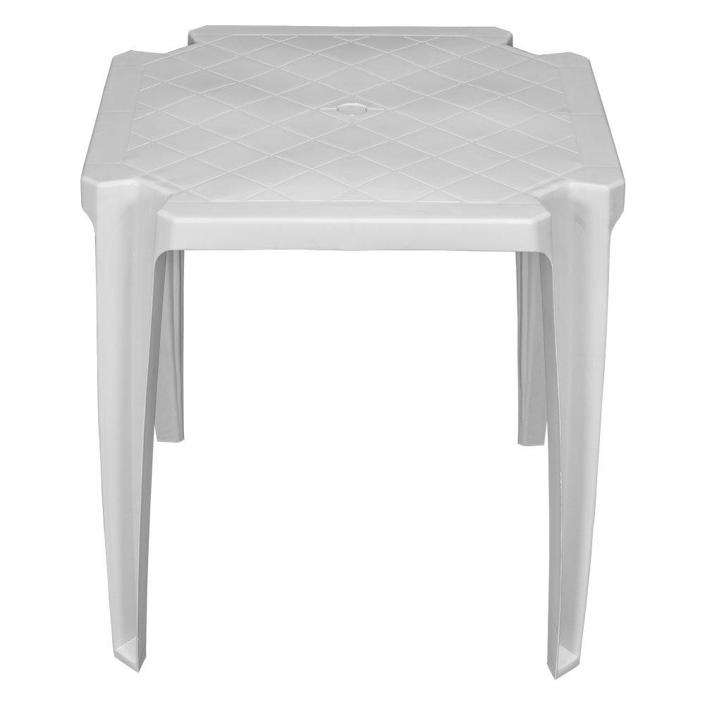 Mesa Branca de Plástico sem Cadeiras - Unitária