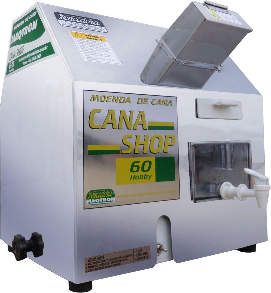 Moenda de Cana Elétrica Com Rolos de Inox Cana Shop 60 Maqtron