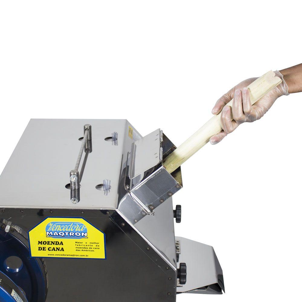 Moenda de Cana a Gasolina Com Partida Manual Rolos de Inox  M-730