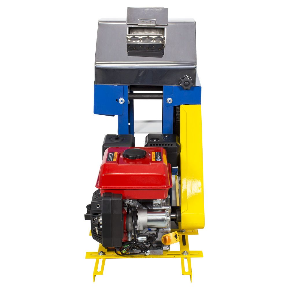 Moenda de Cana a Gasolina Com Partida Elétrica e Rolos de Inox B-721