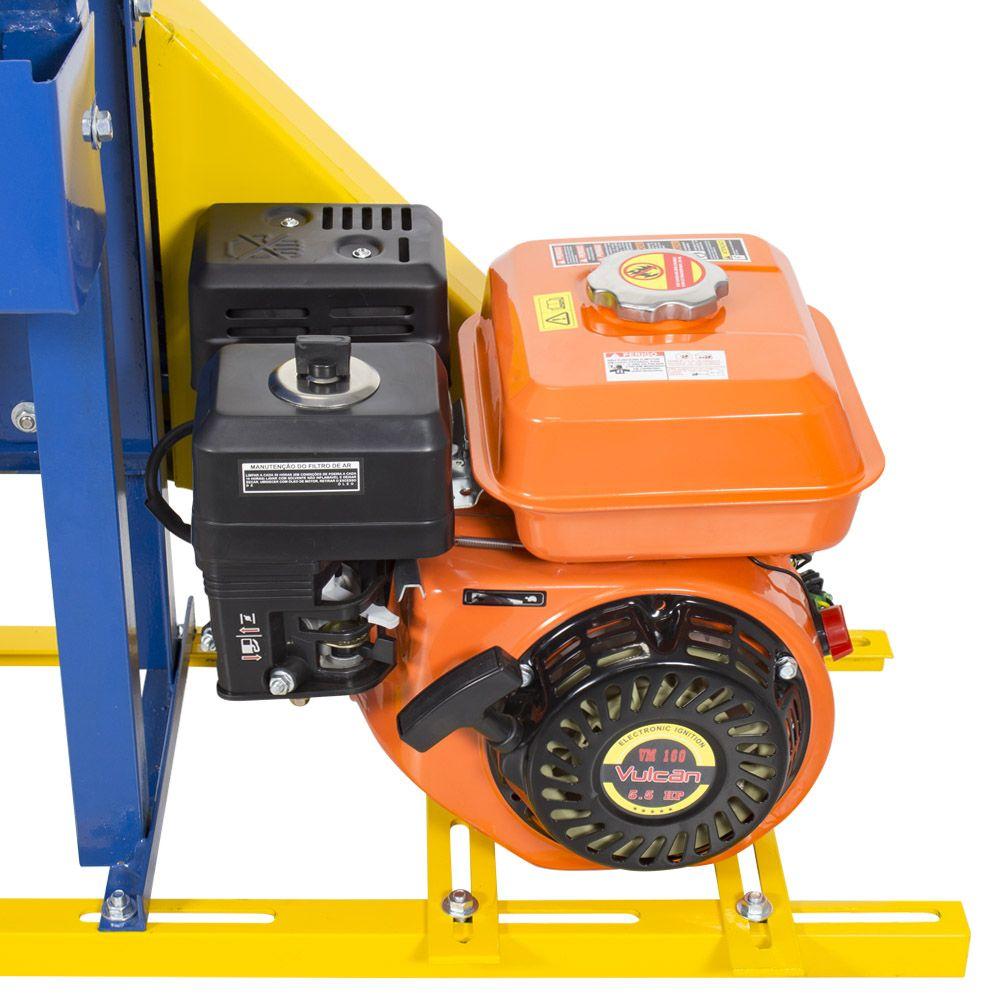 Moenda de Cana Motor a Gasolina Partida Manual Rolo de Inox B-721 TURBO Montada