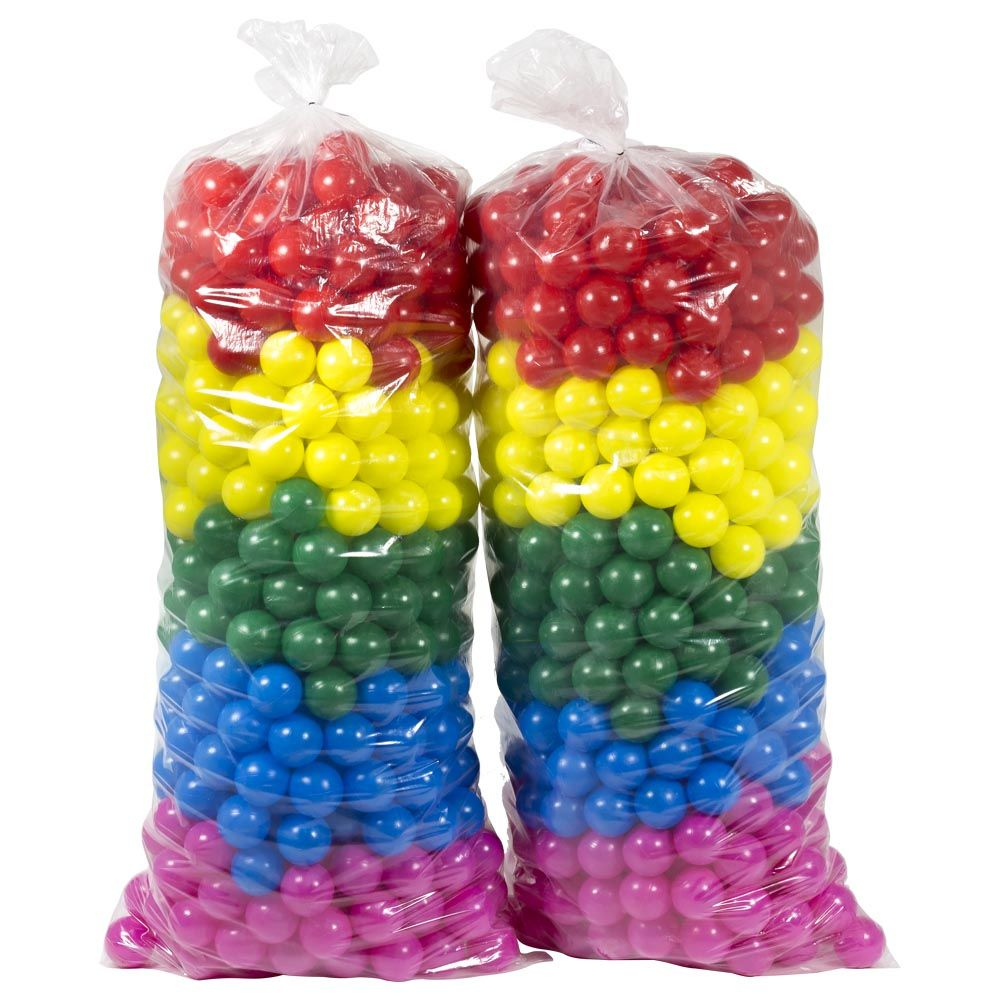 Piscina de Bolinha Canguri de 1,1m x 1,1m com 1.000 Bolas Coloridas
