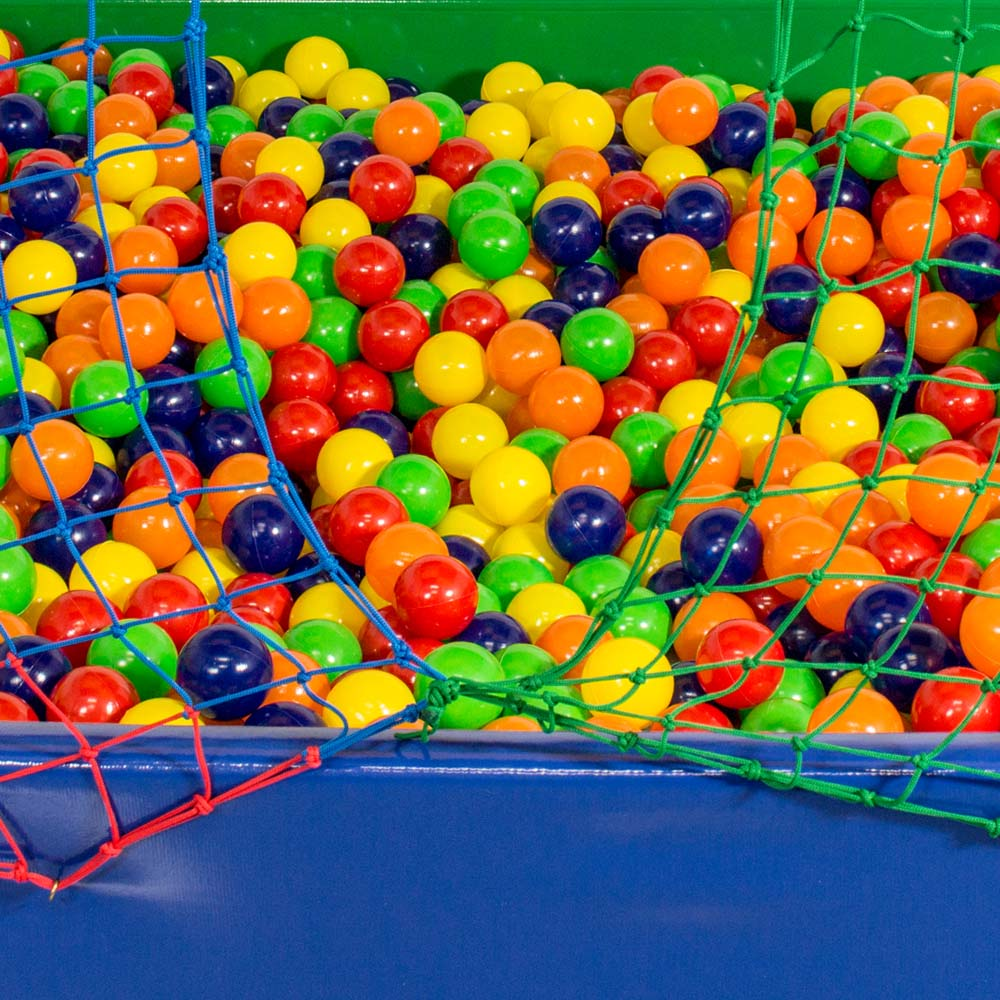 Piscina de Bolinha Canguri de 2m x 2m com 2.000 Bolas Coloridas