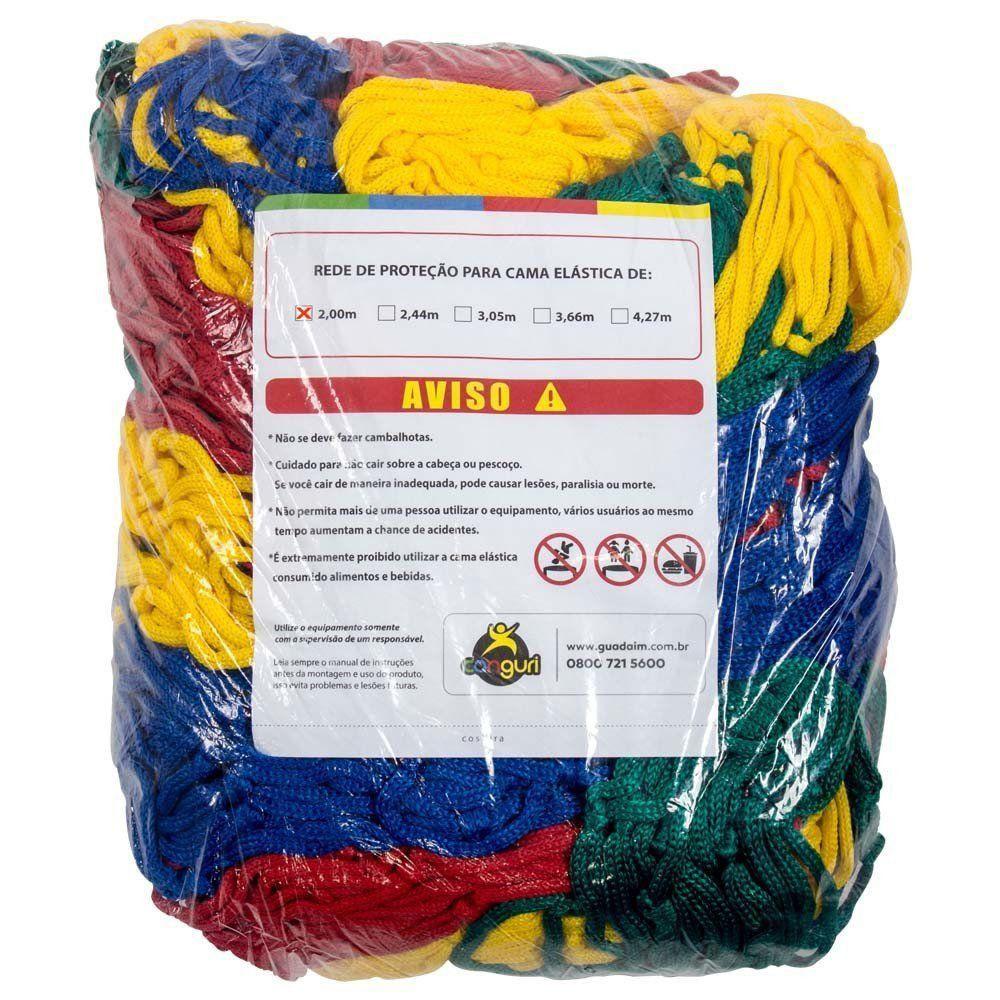 Rede de Proteção Colorida Canguri para Cama Elástica de 2 m