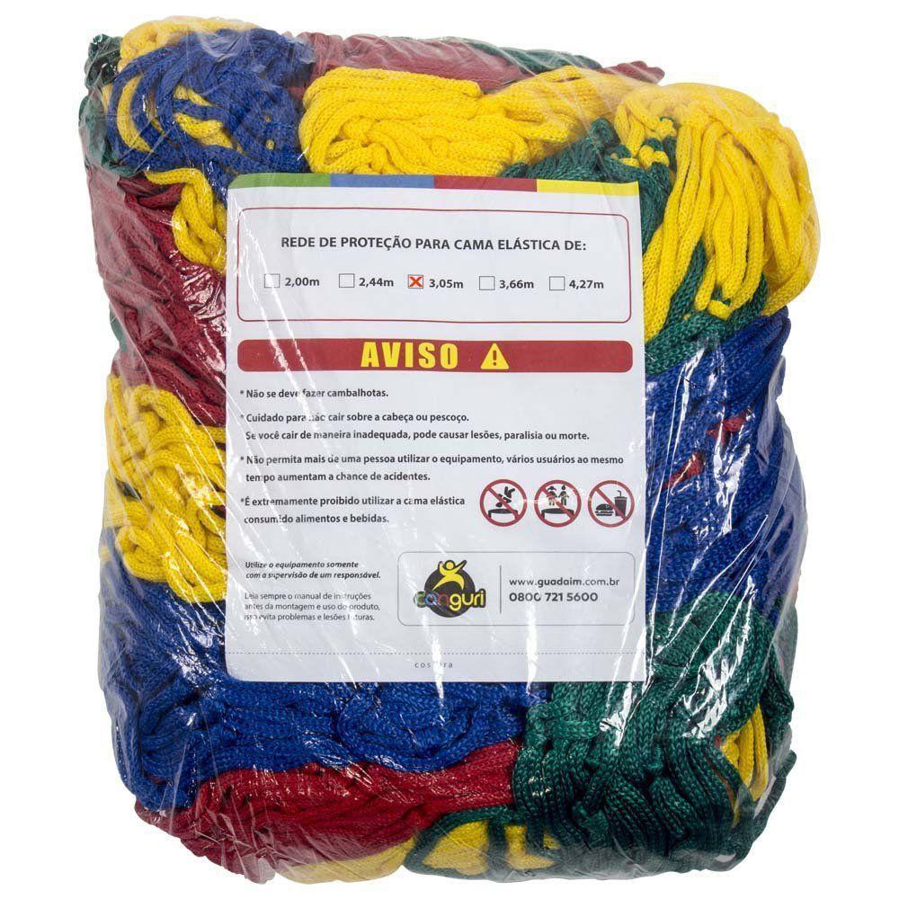 Rede de Proteção Colorida Canguri para Cama Elástica de 3,05/3,10 m