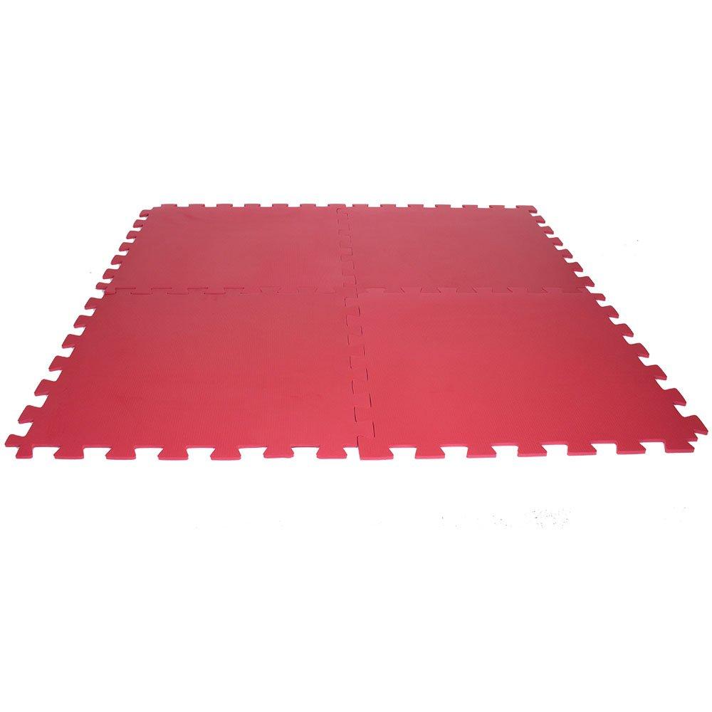 Tatame de EVA Vermelho 1x1 m - Kit com 4 Unidades