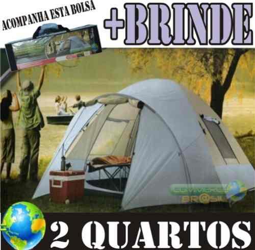 Barraca Camping 6 pessoas 2 Quartos Northpole   Brinde