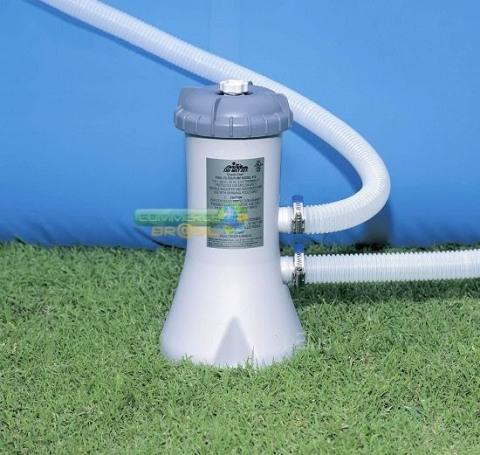 Piscina Estrutural 4485 Litros Intex com Bomba filtrante MOD 56998 com 305 cm diametro e 76 cm altura