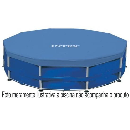 Capa Piscina Intex 305 cm Diâmetro 10´ Estrutural Easy Set mod 58406 para piscinas estruturais