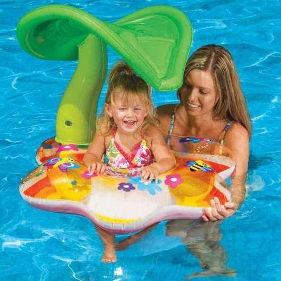 Bote Inflável Infantil Tropical com Cobertura Intex 56577