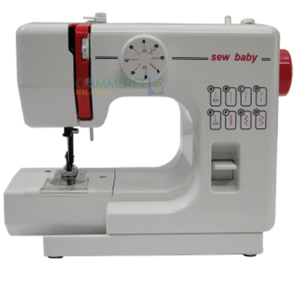 Máquina de costurar Sew Baby WD 5008 8 Pontos Reto e Zig-Zag - portátil