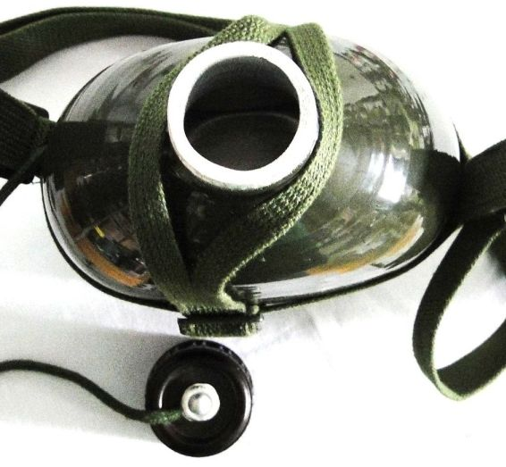 Cantil Portátil de Alumínio cor Verde Estilo Exército WMTLL80314/B2