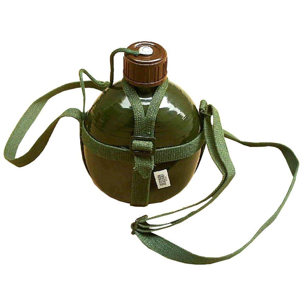 Cantil Portátil de Alumínio Verde Estilo Exército CBRN09152