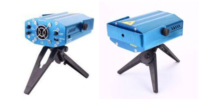 Mini Laser Stage Lighting Projetor Holografico Tripe NWSG09