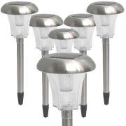 Luminaria solar para jardim 6 peças aço inox EC1126 CD 1390