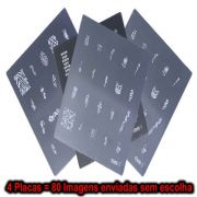 Criarts NEW 4 Placas 80 Imagens para Decoração de Unhas
