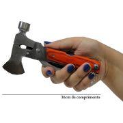 Alicate Machadinha Martelo Kit Ferramentas Multiuso 11 em 1 WMT0072 de Aço Inox + Bolsa
