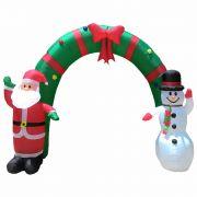 Arco Inflável Decoração de Natal 2,10m de Altura Iluminado BiVolt CBRN0586 CD1561