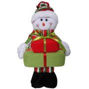 Boneco de Neve de Pelúcia com Presentes com 35cm de Altura CBRN0333 CD0050