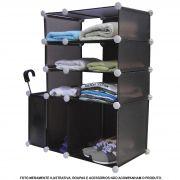 Estante multi-uso Organizadora 6 Compartimentos Marrom CBR1022
