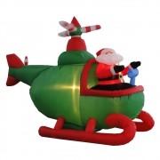 Helicóptero Inflável Decoração de Natal 1,50 mt Iluminado 220 volts 1563 CBRN04959