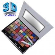 Kit Maquiagem Jasmyne 3D V951A-3D 48 Sombras 2 Aplicador Sombra