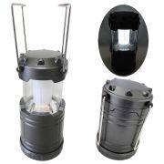 Lampião Lanterna p/ Camping a Pilhas 4 LEDS PRATA CBRN01248