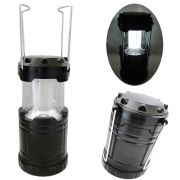 Lampião Lanterna p/ Camping a Pilhas 4 LEDS PRETO CBRN01255