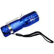 Lanterna Tática Policial Led Cree Pilhas 10cm DS-1716 Azul