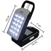 Luminária de Emergência LED Lanterna Multifunção LED-752 com 30 LEDS
